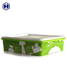Empty Square Plastic Food Storage Containers Eco Friendly SGS FDA Certificated