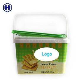 In Mould Labelling Layer Plastic Cake Tubs Environmentally Friendly