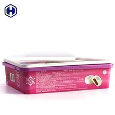 Purple PP Plastic IML Box 450g  Moon Cake Packaging Customized Label
