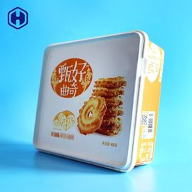 Butter Cookie Square Plastic Food Storage Containers In Mold Labeling