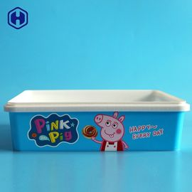 Empty  IML Box Custom Labels Thin Wall Plastic Biscuit Containers