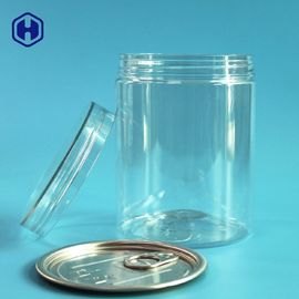 Screw Lid Type Clear Plastic Cans 16OZ 500ML With Aluminium EOE Top