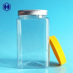 Aluminium Cap Square Plastic Food Containers Round Mouth Diameter 83.3mm