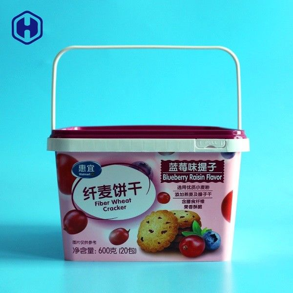 Strong Plastic Pp Square Food Grade Buckets 100oz 3000ml With Lids