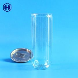 Leakage Proof 8oz Clear Plastic Soda Can Disposable Fully Airtight