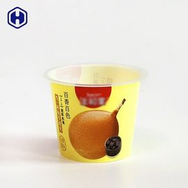 Fruit Juice IML Cup Foil Top Liquid Leak Proof Colorful Empty Yogurt Cup