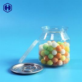 Food Safe Clear Plastic Cans Snack Candies Pacing  Plastic Cylinder Container