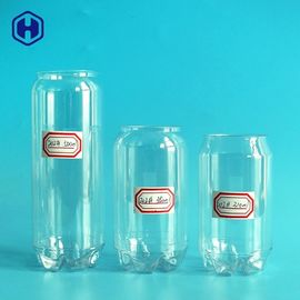 Cold Coffee Beverage Plastic Drink Containers With Aluminium Lid